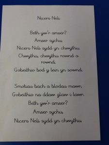 Welsh Poem for yr 3/4 for the Eisteddfod. Open Tudor to watch poem being recited in welsh.