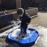 This week in Derw we have been making big splashes