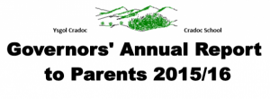 Governors annual report to parents front 2015 to 2016
