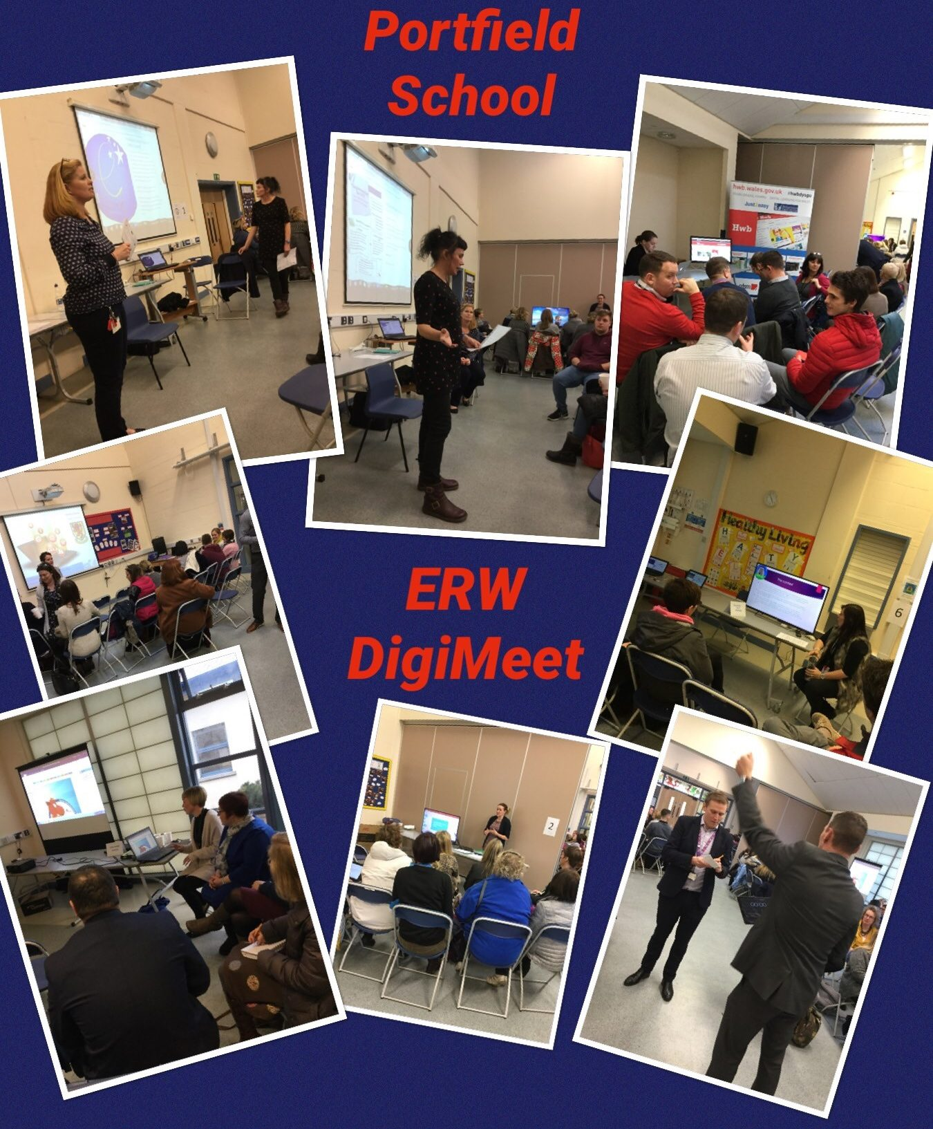 Monday 12th February Portfield School hosted the Erw DigiMeet. We had over 80 attendees who came to find out more about the Digital Competence Framework. There were six workshops with presentations on HWB, internet Safety, One Note, DC in the Foundation Phase, Scratch and The Implementation of the DCF.