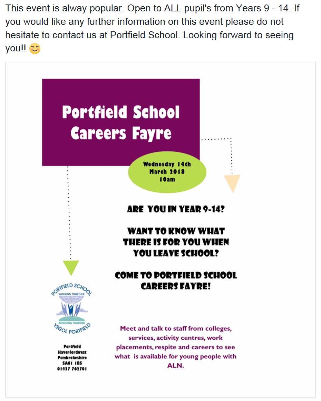 portfield careers fayre