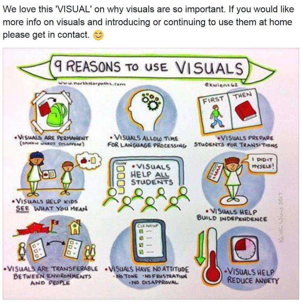 reasons to use visuals