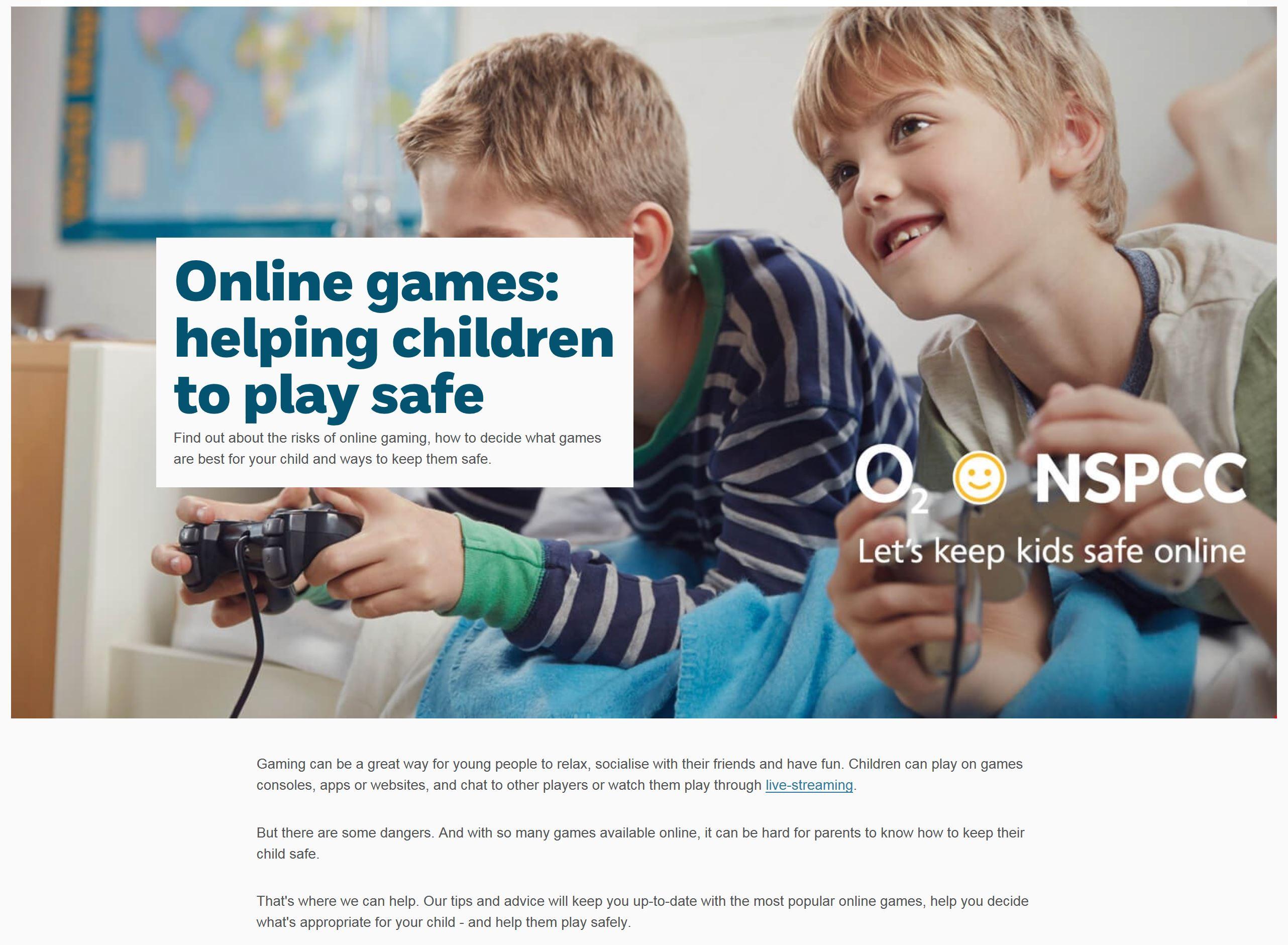 online games safety