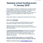 Swansea school funding event LARGE FONT (2)