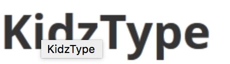 """""""KidzType"""""""
