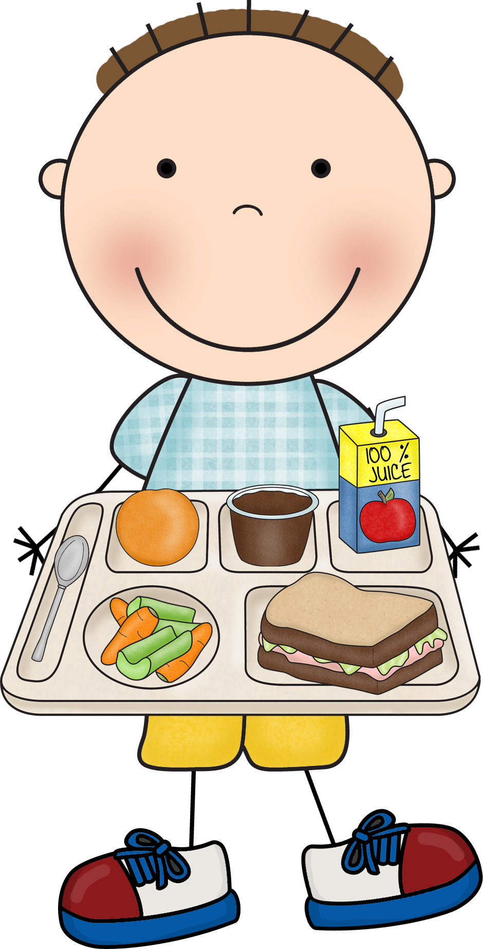 Image result for child eating school dinner clipart