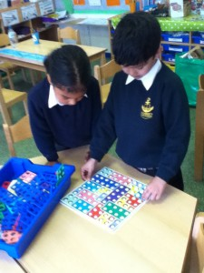 We can make 10 using the numicon!