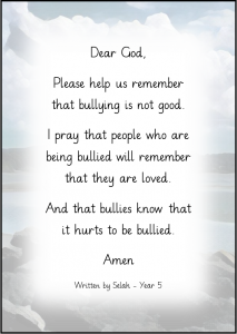 Selah Prayer - Bullying