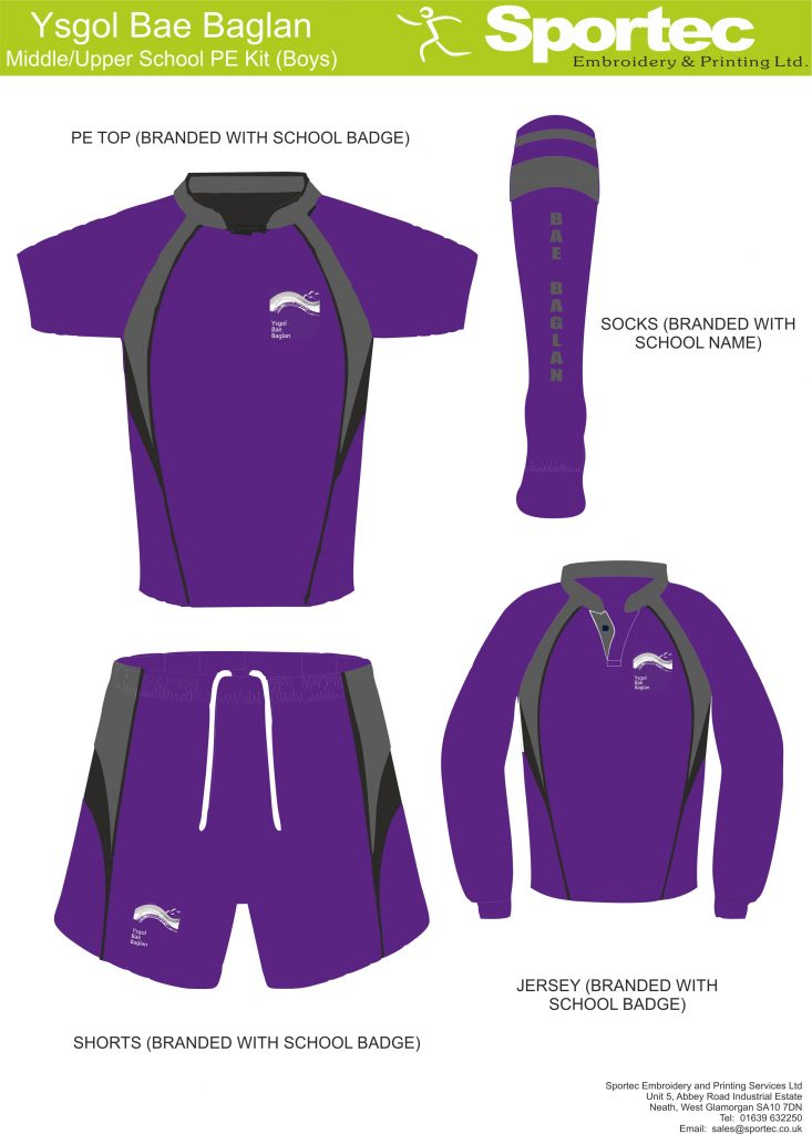 Boys Midde  Upper School PE Kit