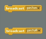 Broadcast commands for Pin 7