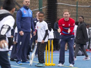 Eoin Morgan at the NatWest ÔCricket has no boundariesÕ campaign launch at the Black Prince Community Trust Hub in Vauxhall Photo by Henry Browne/SilverHub 0208 004 5359 sales@silverhubmedia.com