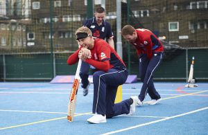 LONDON, ENGLAND - MAY 08: In this handout image provided by NatWest Joe Root of England plays visually impaired cricket, at the NatWest 'Cricket has no boundaries' campaign launch at the Black Prince Community Trust Hub on May 1, 2017 in Vauxhall,London. (Photo by Handout/Getty Images)
