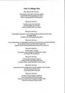 Year 4 class poem