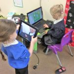 How clever are we! We can use a laptop and ipad!