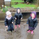 Just like Peppa. Splashing in muddy puddles